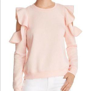 Rebecca Minkoff cold shoulder sweatshirt NWT